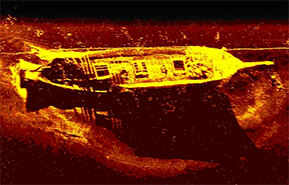 Sonar image of a 1912 wreck in Maryland